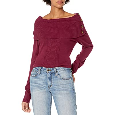 reCreation Women's Long Sleeve Foldover Sweater at Women's Clothing store