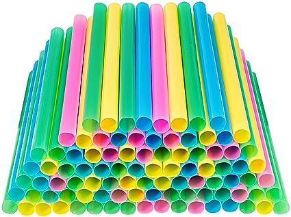 amazon com jumbo drinking straws individually wrapped 100 pack