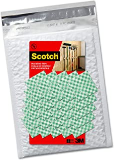 product image for Scotch Permanent Mounting Squares, 4 Squares holds up to 1 lb, 100 x 1-in Squares, White, ships in e-ecommerce packaging