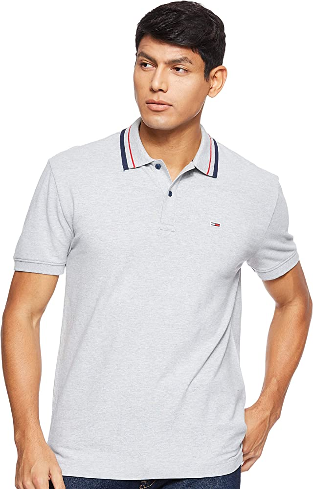 Tommy Hilfiger TJM Tommy Classics Stretch Polo, Gris (Lt Grey Htr ...