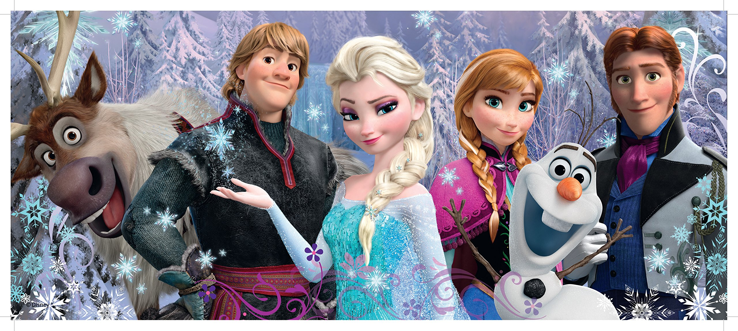 Ravensburger Disney Frozen Friends Panorama 100 Piece Jigsaw Puzzle for Kids – Every Piece is Unique, Pieces Fit Together Perfectly