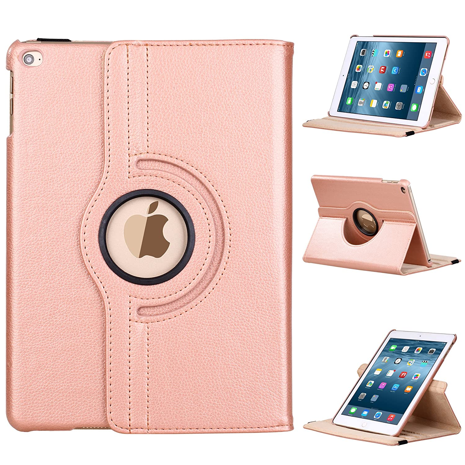 best sneakers d3ffd bcd9b E LV iPad 9.7 (2017) Case Cover Full Body Protection PU LEATHER for iPad  9.7 (2017) with 1 Stylus - (Only compatible with iPad 5 and iPad 9.7  (2017)) ...