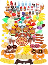 Mommy Please Play Food Set for Kids - Huge 202 Piece Pretend Food Toys is Perfect for Kitchen Sets and Play Food Kitchen Toy