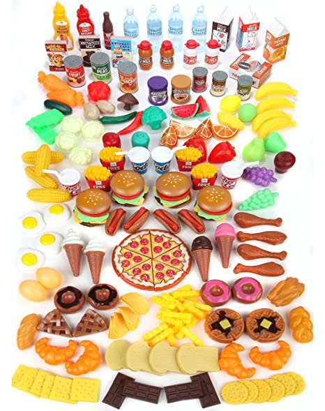 Amazon Com Mommy Please Play Food Set For Kids Huge 202 Piece