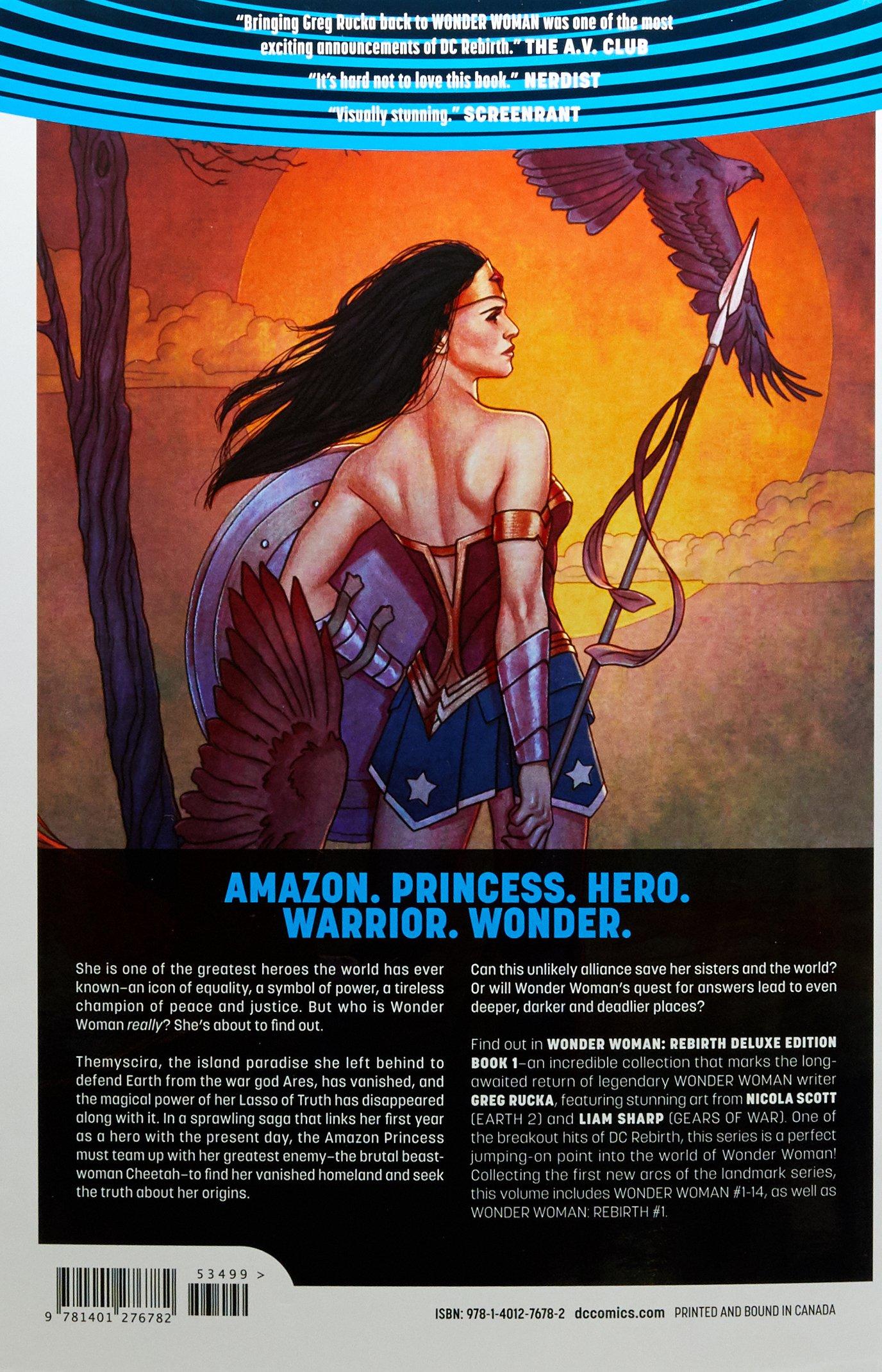 Amazon com: Wonder Woman: The Rebirth Deluxe Edition Book 1