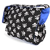 Skull and Crossbones Baby Changing, Nappy Diaper Bag with Accessories