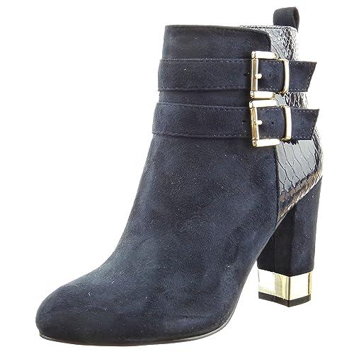 Sopily - Zapatillas de Moda Botines low boots A medio muslo mujer piel de serpiente multi