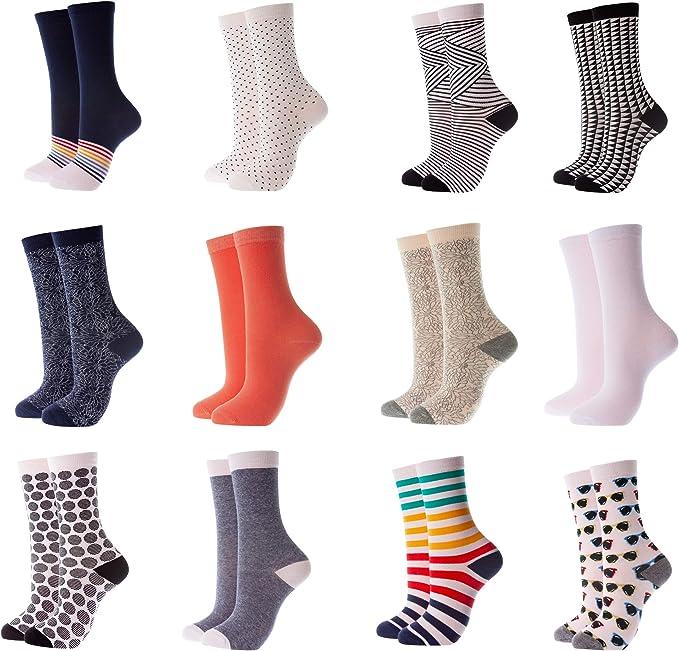 Everyday Crew Socks Mio Marino Mens Dress Socks Moisture Control 6 Pack
