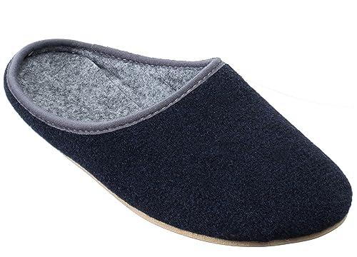8f35d9c678 Fieltro Fieltro Pantuflas Zapatillas con Suela de Goma para Hombre:  Amazon.es: Zapatos y complementos