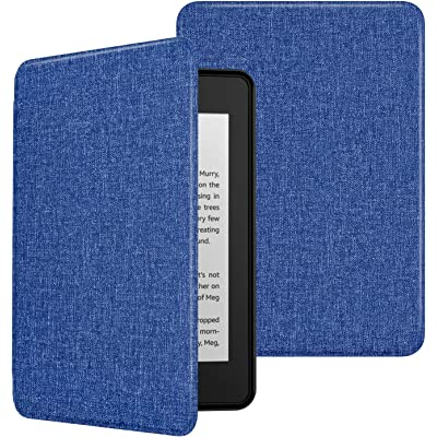 MoKo Funda para Kindle Paperwhite (10th Generation, 2018 Releases), Ultra Delgada Ligera Smart-Shell Soporte Cover Case para Amazon Kindle Paperwhite E-Reader - Azul