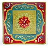 "Certified International 22460 Tunisian Sunset Square Platter, 14.25"", Multicolor"