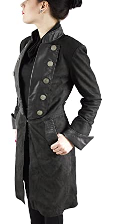 detailed look 3f3a7 28aba LEDERJACKE Fiora - Damen Echt Leder Pirat Gothic Ledermantel