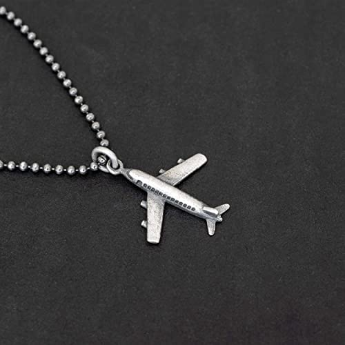 Plane Necklace Silver Airplane Pilot Gift Travel Necklace Flight Attendant Pilot Necklace Airplane Necklace Airplane Pendant