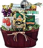 Gift Basket Village Italian Themed Dinner Gift Basket For Two - With Italian Pasta Salad, Handmade Tomato Basil Linguini, Snacks & Italian Dessert (7 lb)