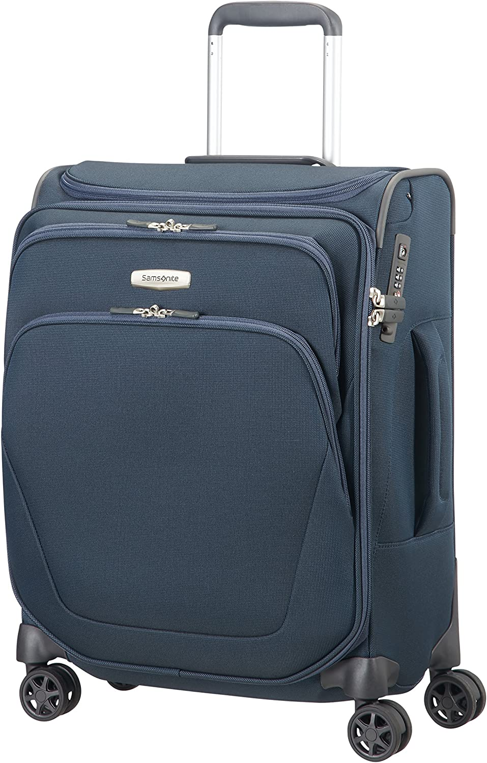 Samsonite Spark SNG Spinner Top Pocket Equipaje de Mano 55 cm, 43 litros, Azul (Blue)