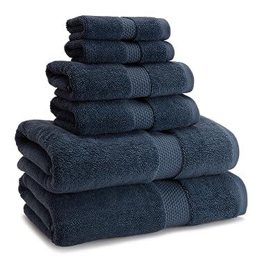 Kassatex Atelier Bath Towel 30  x 54  - 100% Turkish Cotton - Batic Blue