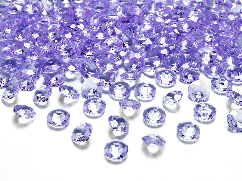 decoraci/ón de Mesa para Bodas Piedras acr/ílicas 1,2 cm Piedras Decorativas de Diamantes 12 mm MultiProject Cristal de Hielo Lila