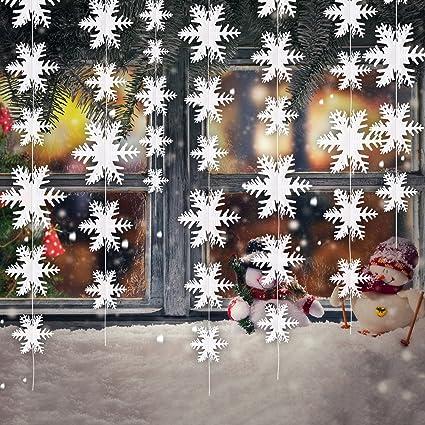 Copos De Nieve Para Decorar Fiesta Frozen.4 Piezas De Copos De Nieve 3d Adornos Colgantes Guirnalda