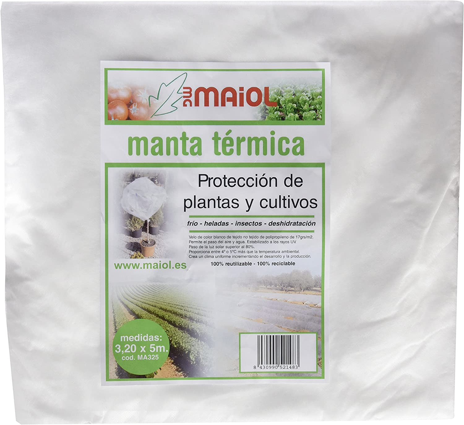 Maiol MA325 - Manta térmica 3,20 x 5 m.: Amazon.es: Jardín