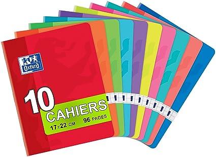 Oxford Classic 100104421 - Pack de 10 libretas grapadas de tapa blanda, A5+: Amazon.es: Oficina y papelería