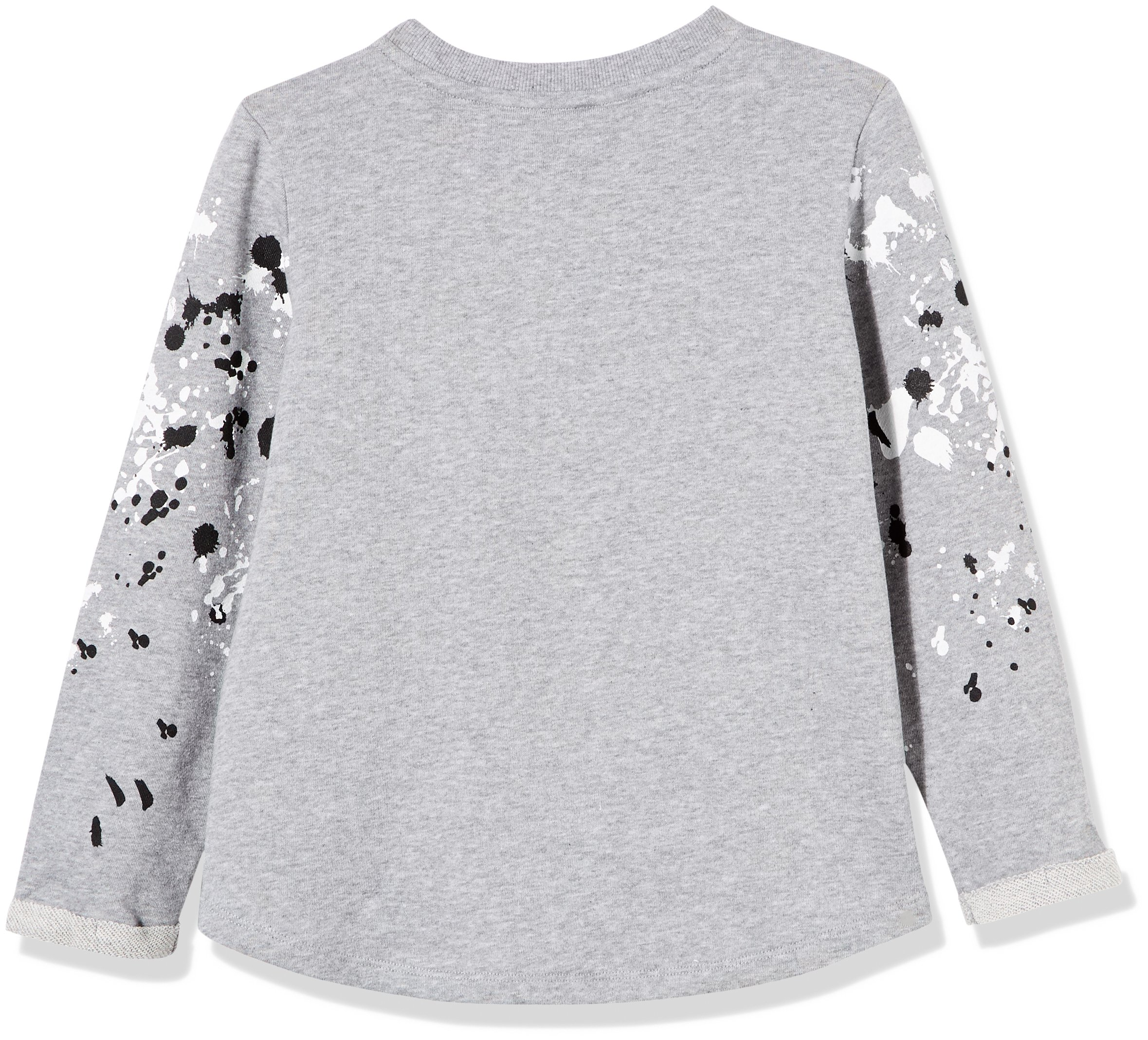 Kid Nation Girls' French Terry Rolled-Cuff Printed Oversized T-Shirt Small Gray Heather by Kid Nation (Image #2)