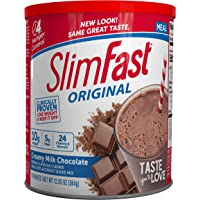 SlimFast – Original Meal Replacement Shake Mix Powder – Weight Loss Shake – 10g of Protein – 24 Vitamins and Minerals…