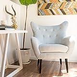 Heleen Light Grey New Velvet Mid Century Club Chair