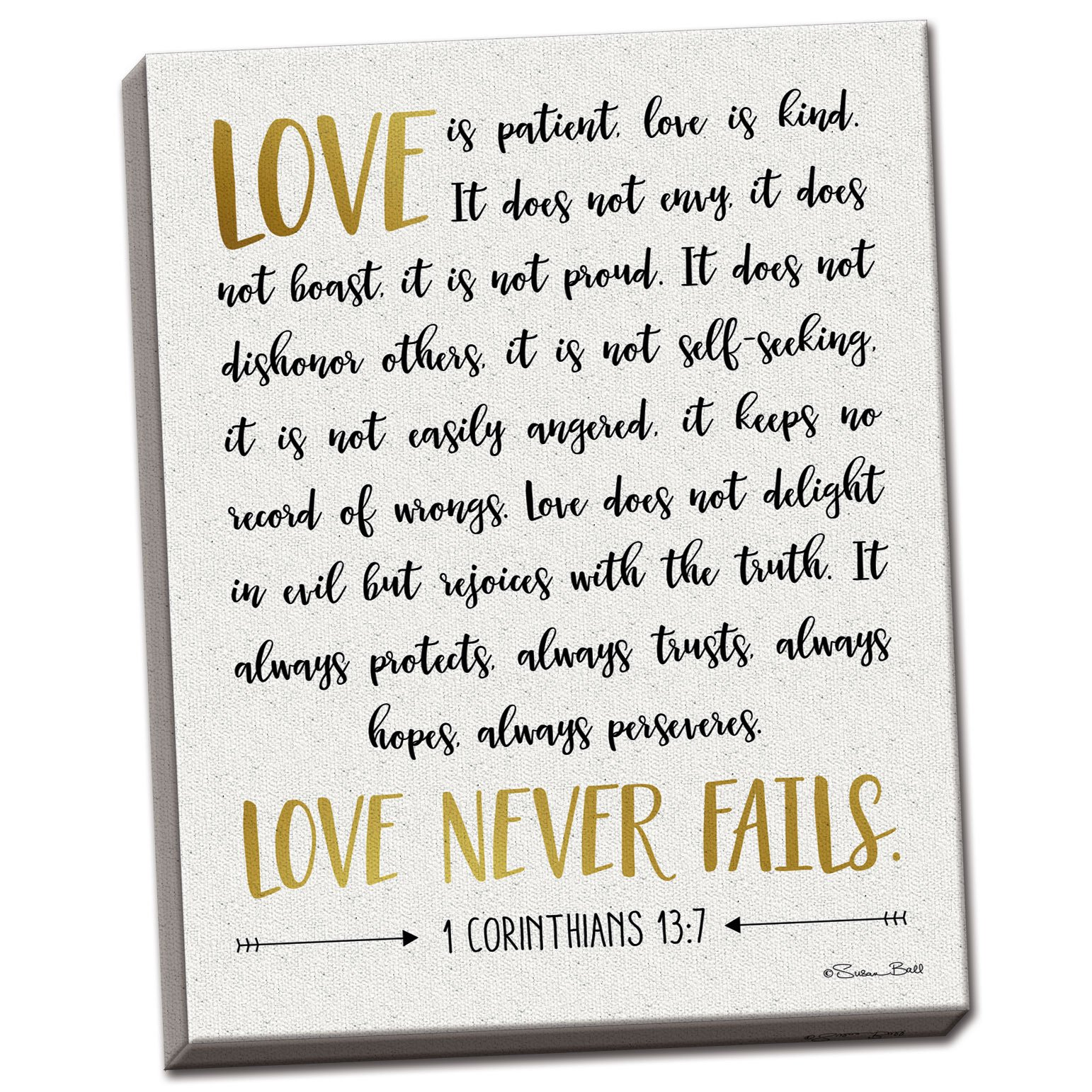 Gango Home Decor Contemporary Love is Patient by Susan Ball (Ready to Hang); One 12x16in Hand-Stretched Canvas