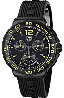 7178ad3bf91 TAG Heuer Men s CAU111E.FT6024 Formula 1 Analog Display Quartz Black Watch