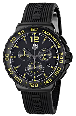 028daa66c41 Image Unavailable. Image not available for. Color  TAG Heuer Men s  CAU111E.FT6024 Formula 1 Analog Display Quartz Black Watch