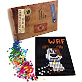 La Manufacture du Pixel Kit tapis et 900 pixels à insérer (Noir) - Pixel Art, Loisir Créatif, Mosaïque, Fun ! - Créez à l'infini tout l'art qui vous ressemble