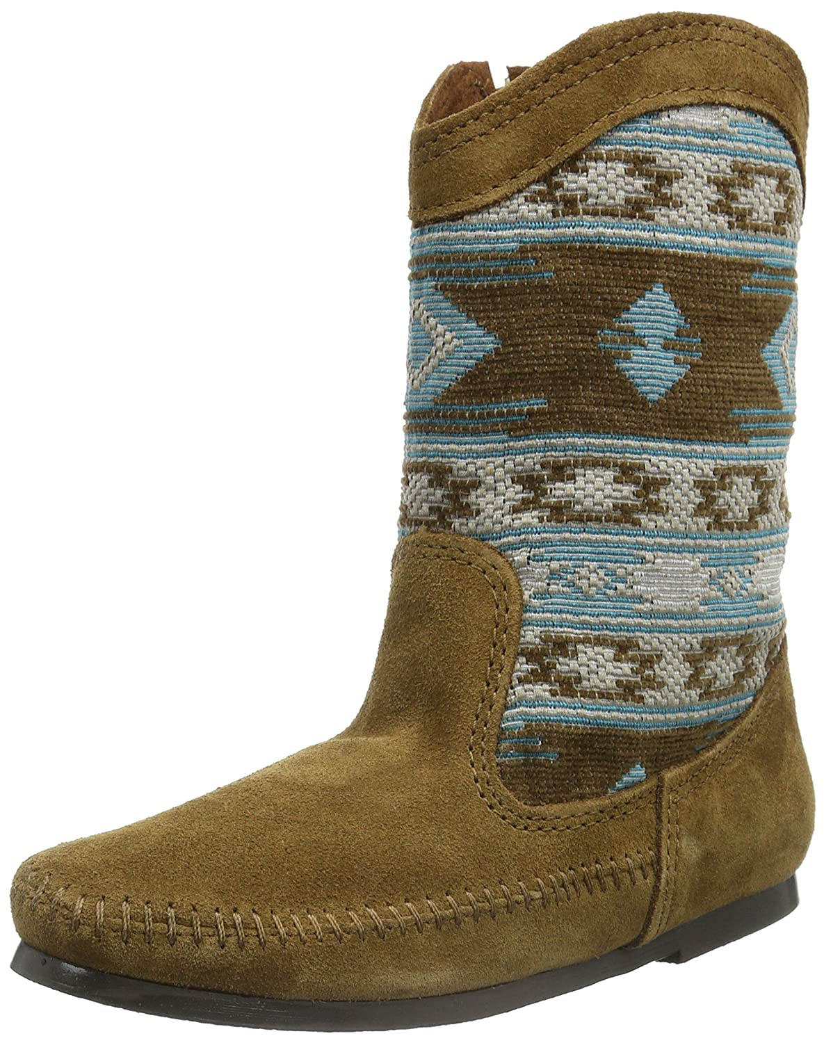 Minnetonka Women's Baja B(M) Slouch Boot B00X81NGOA 6 B(M) Baja US|Dusty Brown Suede/Turquoise Fabric f6974d