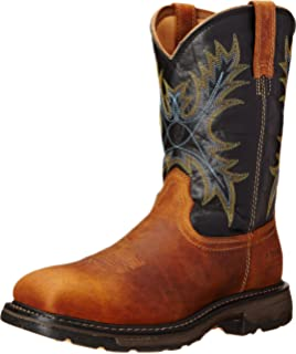 Amazon.com | Ariat Men's Workhog Steel Toe Work Boot | Industrial ...