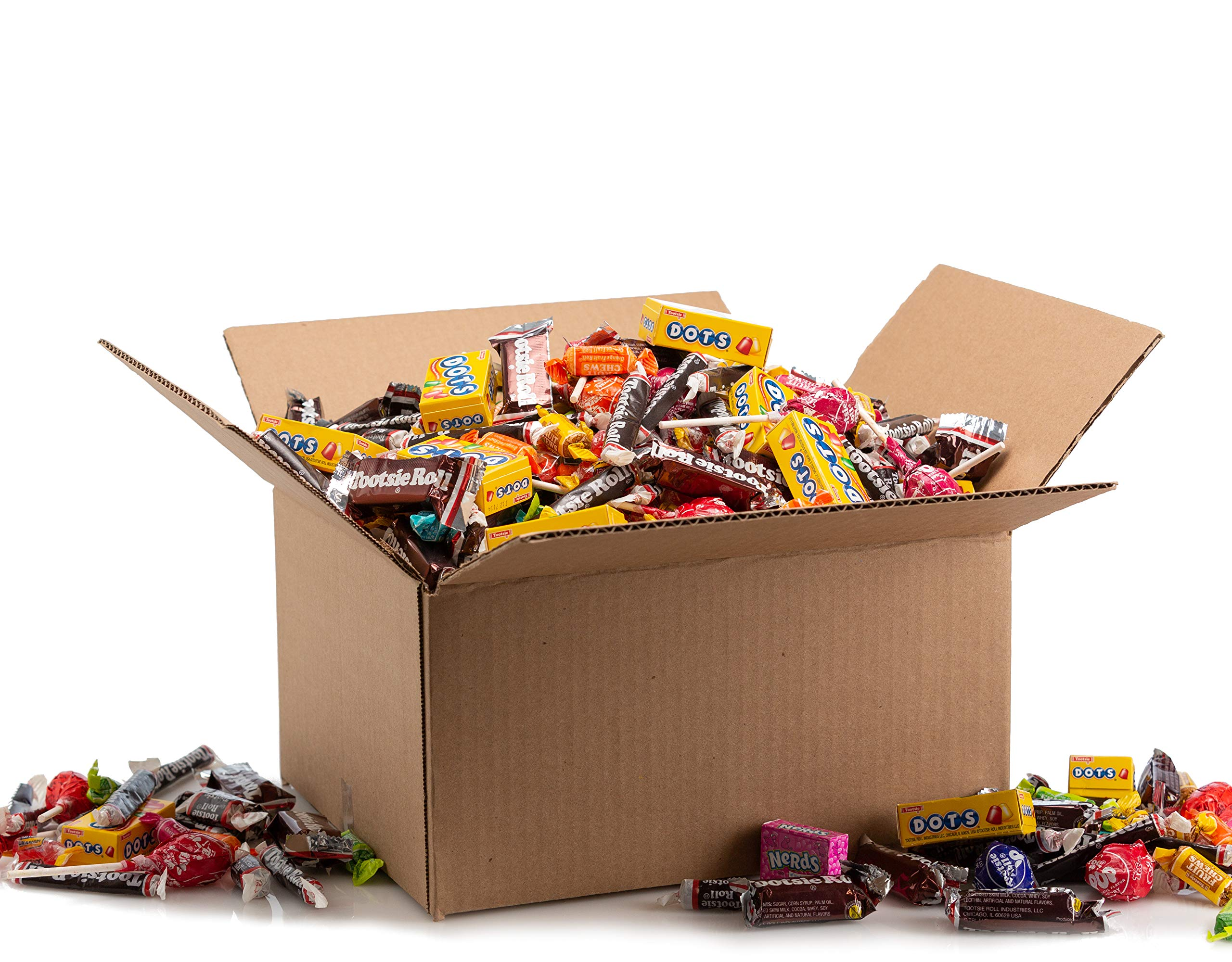 Assorted Bulk Candy, Individually Wrapped: 12 LB Box Variety Pack with Tootsie Rolls, Tootsie Pops, Jolly Ranchers, Nerds, Assorted Laffy Taffy's & More! Great for Holiday and Party Treats by Betalicious (Image #1)