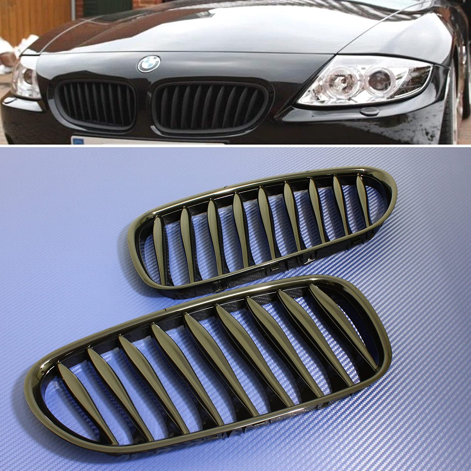 Z10 2003-08 E85 Roadster E86 Coupe Z4 cabriolet Front Grille Grill Gloss Black