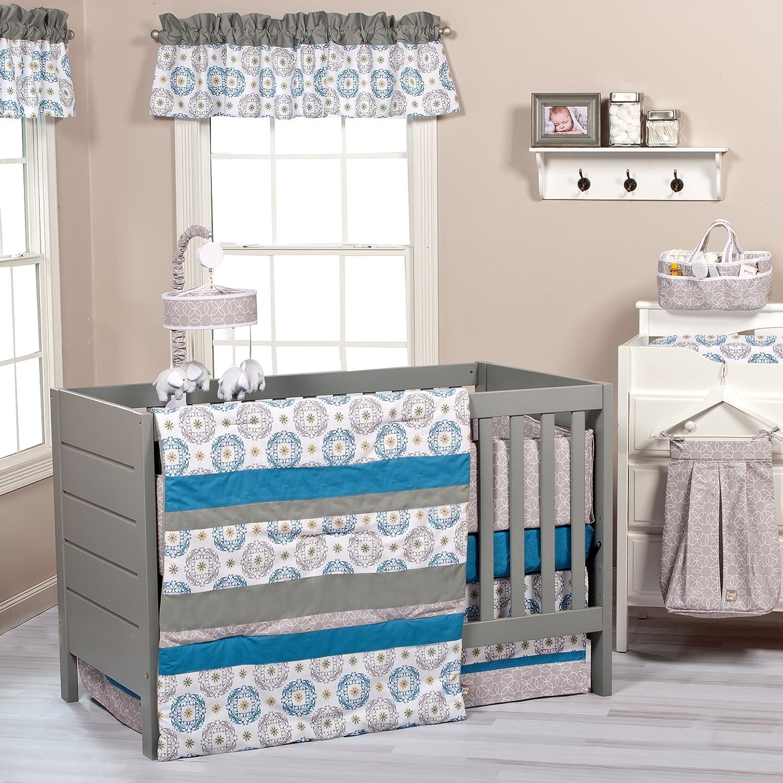 Amazon.com: Trend Lab 3 piezas Mónaco Cuna Juego de cama: Baby