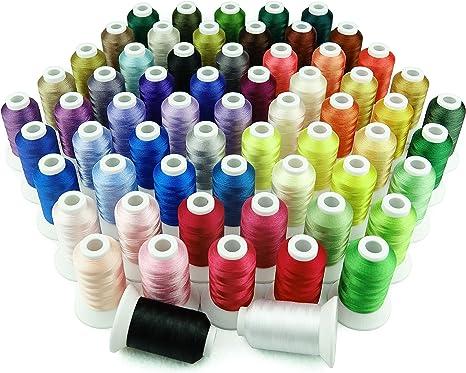 Simthread - Juego de hilo para máquina de coser (63 colores, 40 W ...