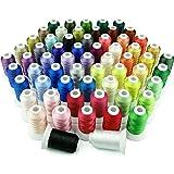 Simthreads 63 colores de poliéster hilo de bordar - 500 Metros / Carrete