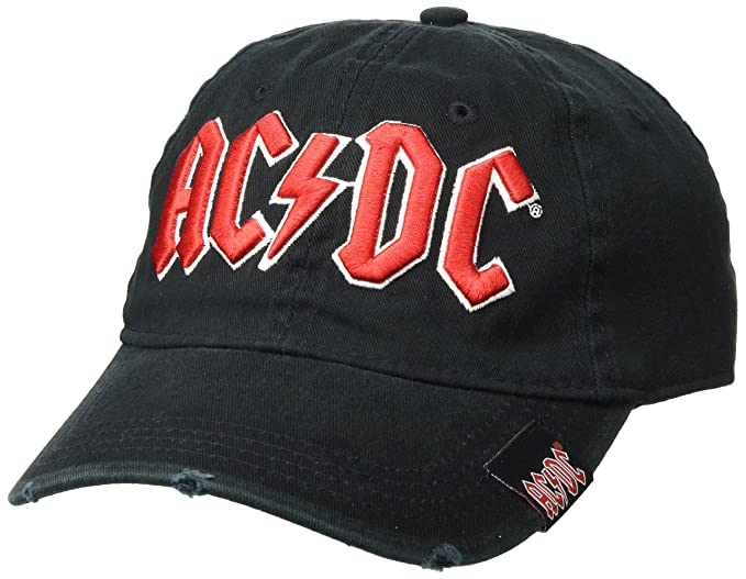 3797fcac3d2 Image Unavailable. Image not available for. Color  AC DC- Red on White Logo Snapback  Hat ...