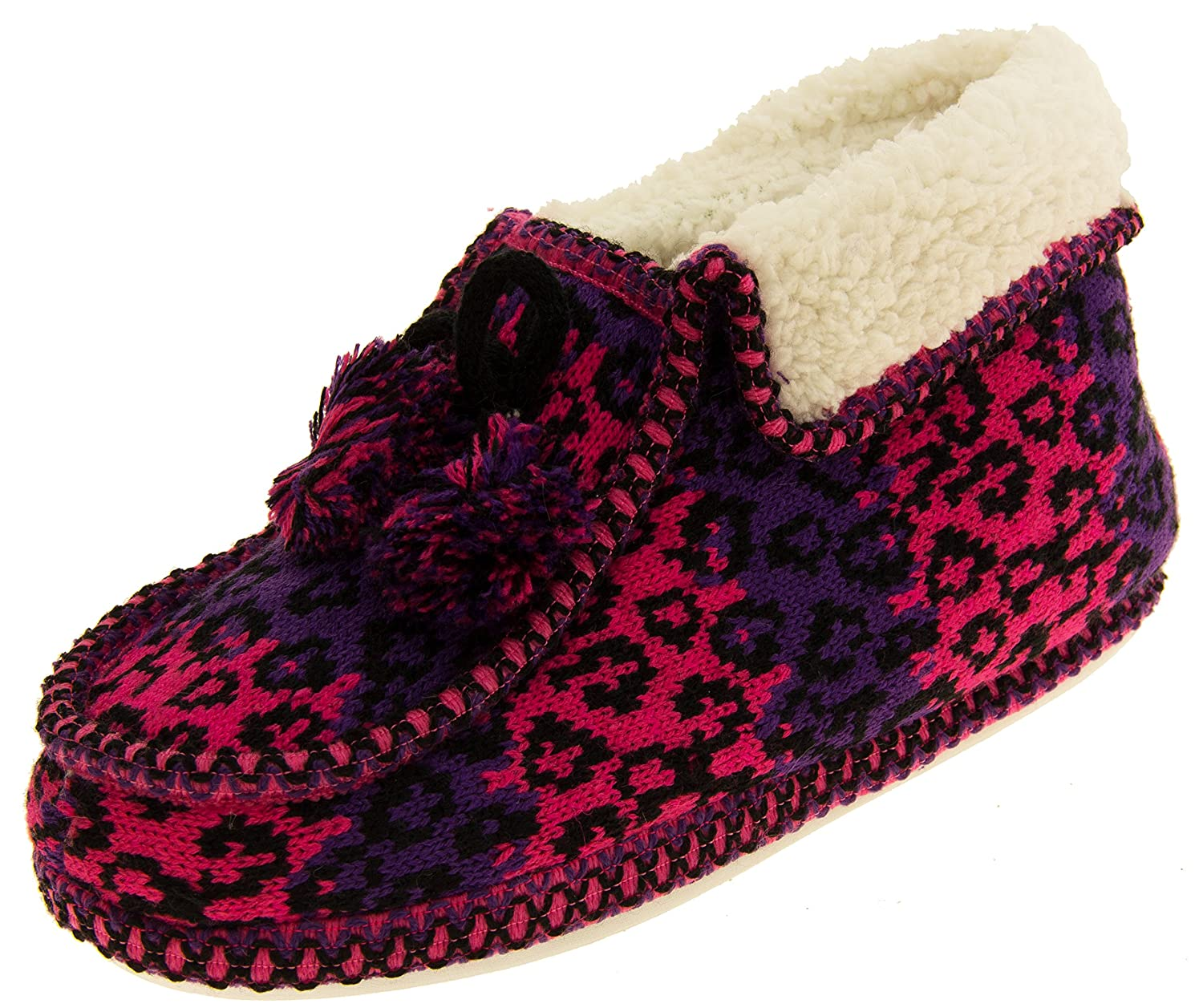 Femmes Coolers Coolers Bottes Winter Faux Fourrure Fourrure Fourrure Fairisle Bottes Rose 2a6181c - jessicalock.space