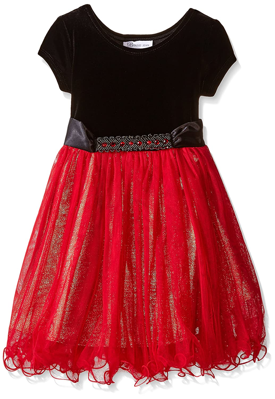 Bonnie Jean Girls' Stretch To Lame Skirt Party Dress
