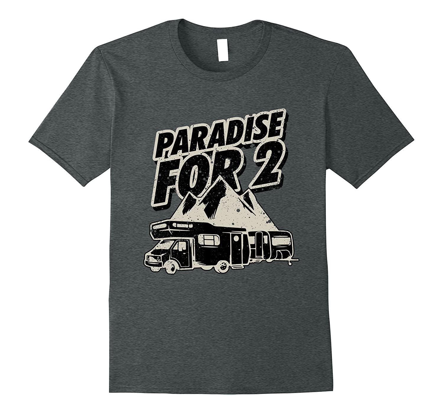 Paradise For 2 RV Life Camping Trailer T-Shirt  Sand