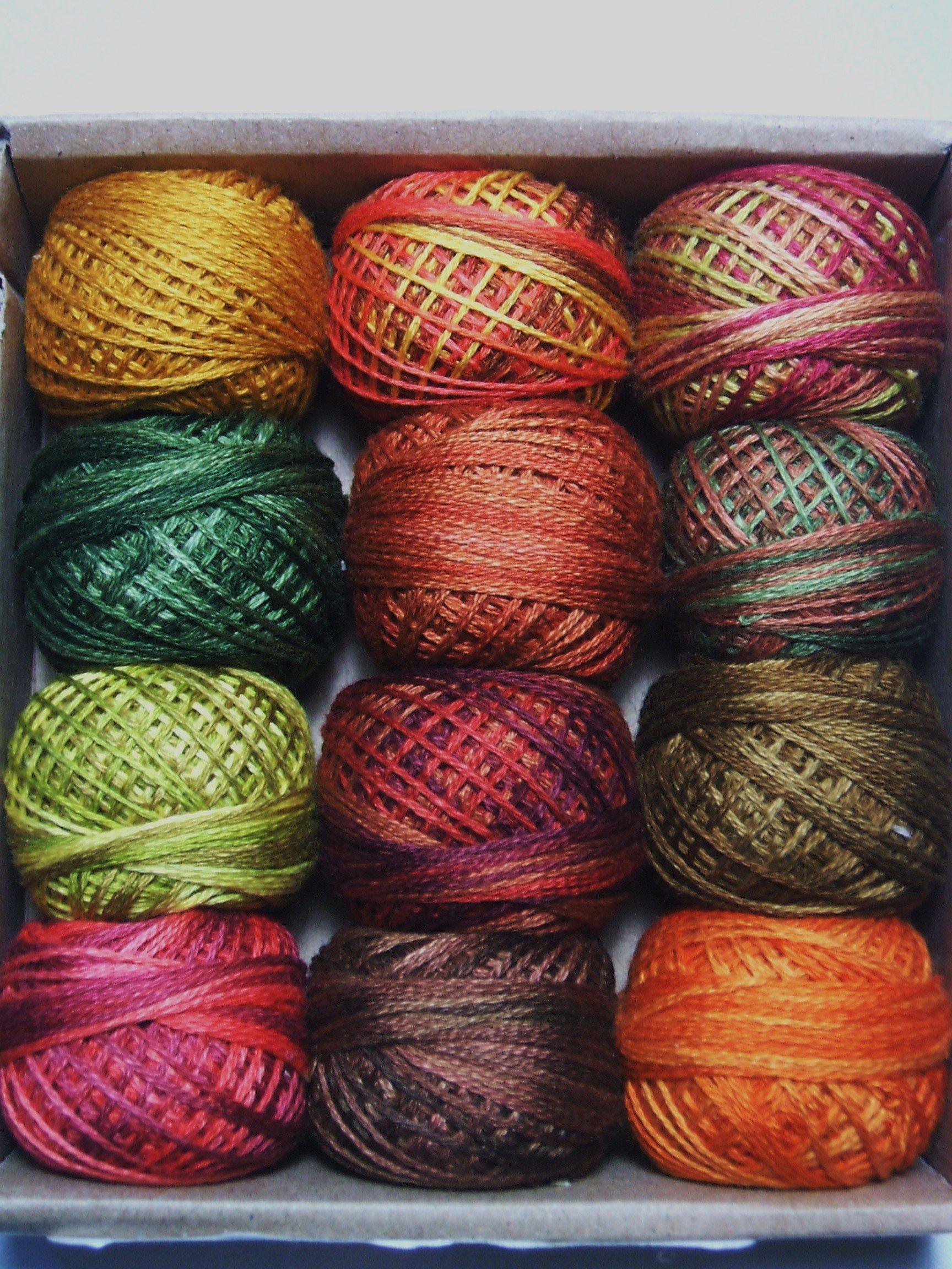 Valdani 3 Strand Cotton Floss Embroidery Punchneedle Thread Fabulous Autumn Set by Valdani