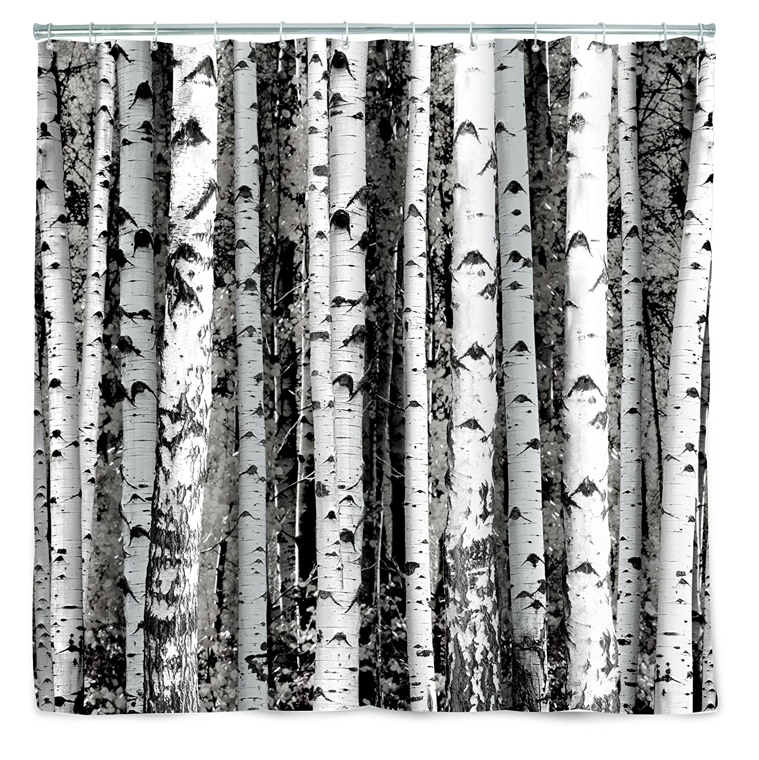 Amazon Kikkerland Shower Curtain Polyester Birch Home Kitchen