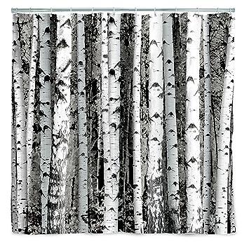 Amazon Kikkerland Shower Curtain Polyester Birch Home Kitchen