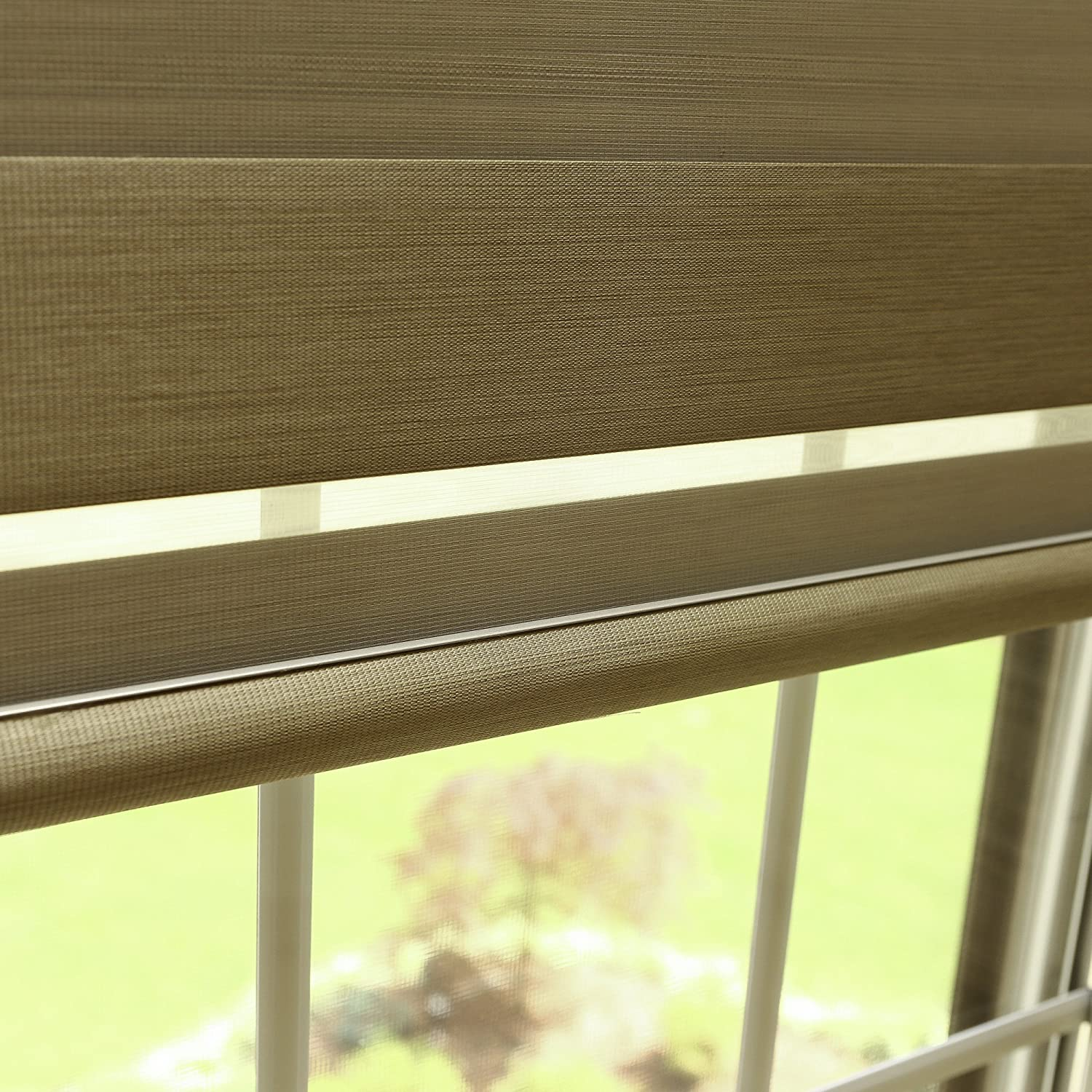 Best Home Fashion Pemium Blackout Duo Roller Window Shade - Coconut - 30