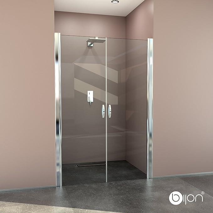 glasshop24 Hochwertige Design Duschabtrennung/Nischendusche mit Lotuseffekt | 90 x 195 cm