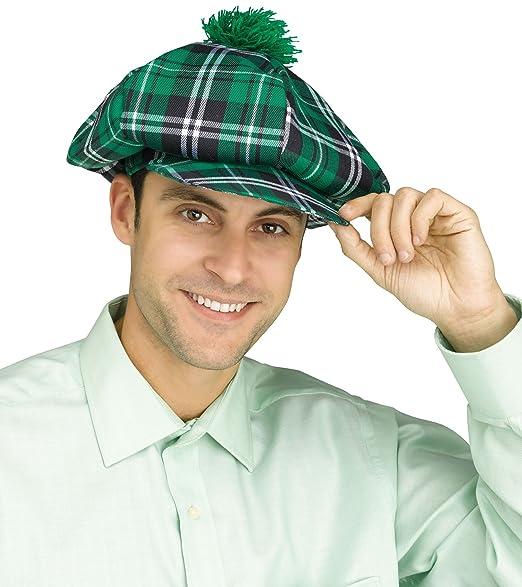 Amazon.com  St Patricks Day Green Plaid Oversized Golf Hat Shamrock ... dbdb7ba78f9e