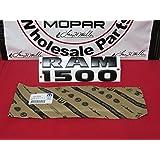 Dodge Ram RAM1500 BLACK Emblem Nameplate Decal Badge Mopar OEM NEW