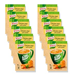 KNORR Cup a Soup Instant Soup Chicken With Noodles - Pack of 12